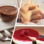 Natale dolce e leggero, con 3 delizie gluten free: mousse au chocolat, biscottini, e cheesecake